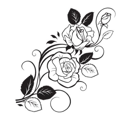 Цветы и узоры ч/б