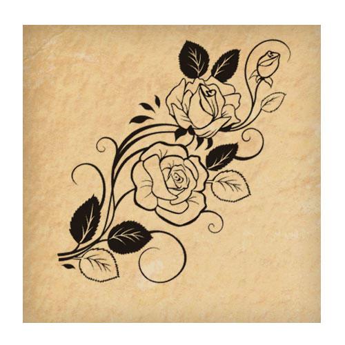 Узоры и черно-белые цветы
