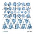 0084 Снежинки и елочки