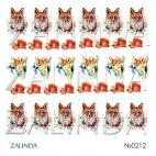 0212 Акварельные лисы и маки
