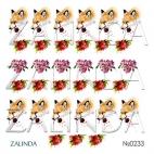 0233 Акварельные лисы и цветы