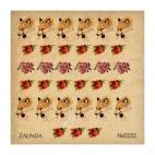 233 Акварельные лисы и цветы